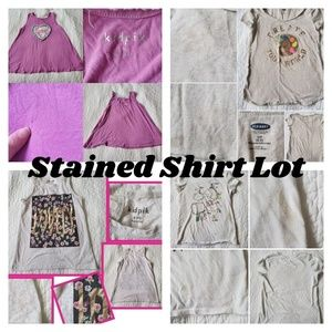 STAINED shirt lot - Defects - Girls